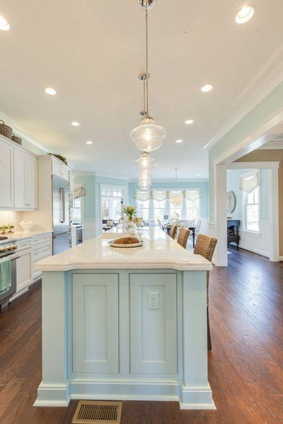 Right Lighting for Coastal Kitchen Design