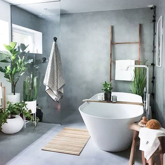 Plants Decors in Making The Bathroom Feel Fresh and Comfortable