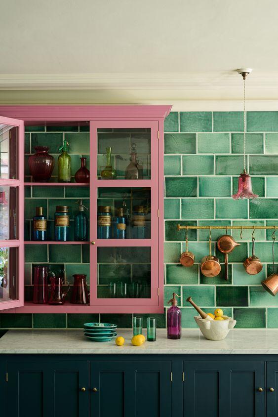 shades of green kitchen