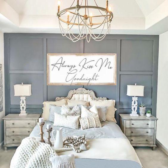 Beautiful Panel Wall Bedroom