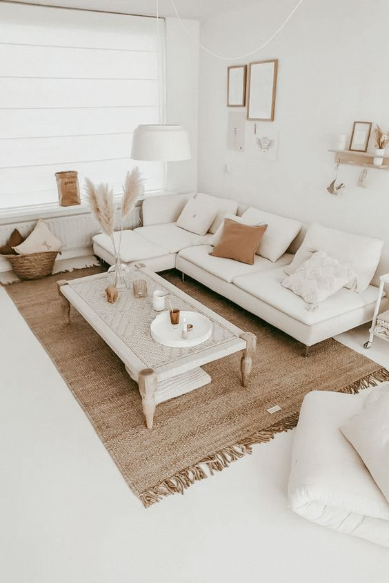 Low-profile furniture for small living room