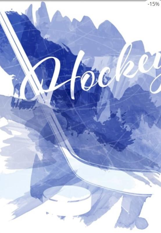 Hockey Equipment Watercolor Splashes Poster