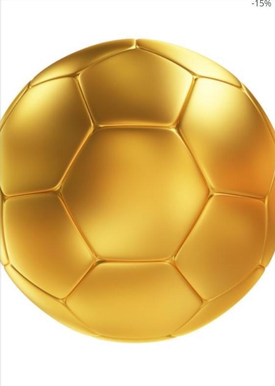 Golden Soccer Ball Poster