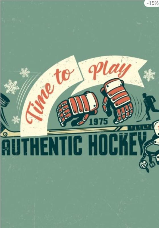 Retro Hockey Accessories Poster